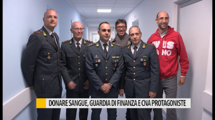 Donare sangue, Guardia di finanza e CNA protagoniste all'ospedale di Fano – VIDEO