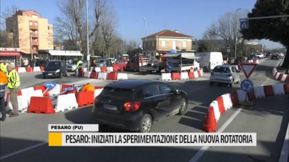 Pesaro: iniziata la sperimentazione della nuova rotatoria – VIDEO