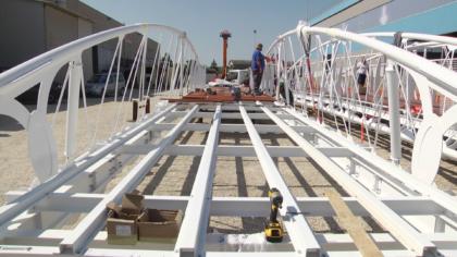 Lunedì la posa in opera del nuovo ponte all'Arzilla di Fano: ecco come è fatto -VIDEO