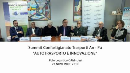 """Summit Confartigianato trasporti An – Pu """"Autotrasporto e innovazione"""" (23 novembre 2019)"""